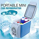Dreamworld Mini Refrigerator Portable Fridge 12V 7.5L Auto Mini Car Travel Fridge ABS Multi-Function Cooler Freezer Warmer Cooling & Warming Refrigerator by dreamworld