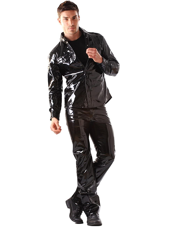 Honour Herren Herren Herren T-Shirt Enganliegend aus PVC in Schwarz B009WU3DMG Langarmshirts Rabatt 1e9530
