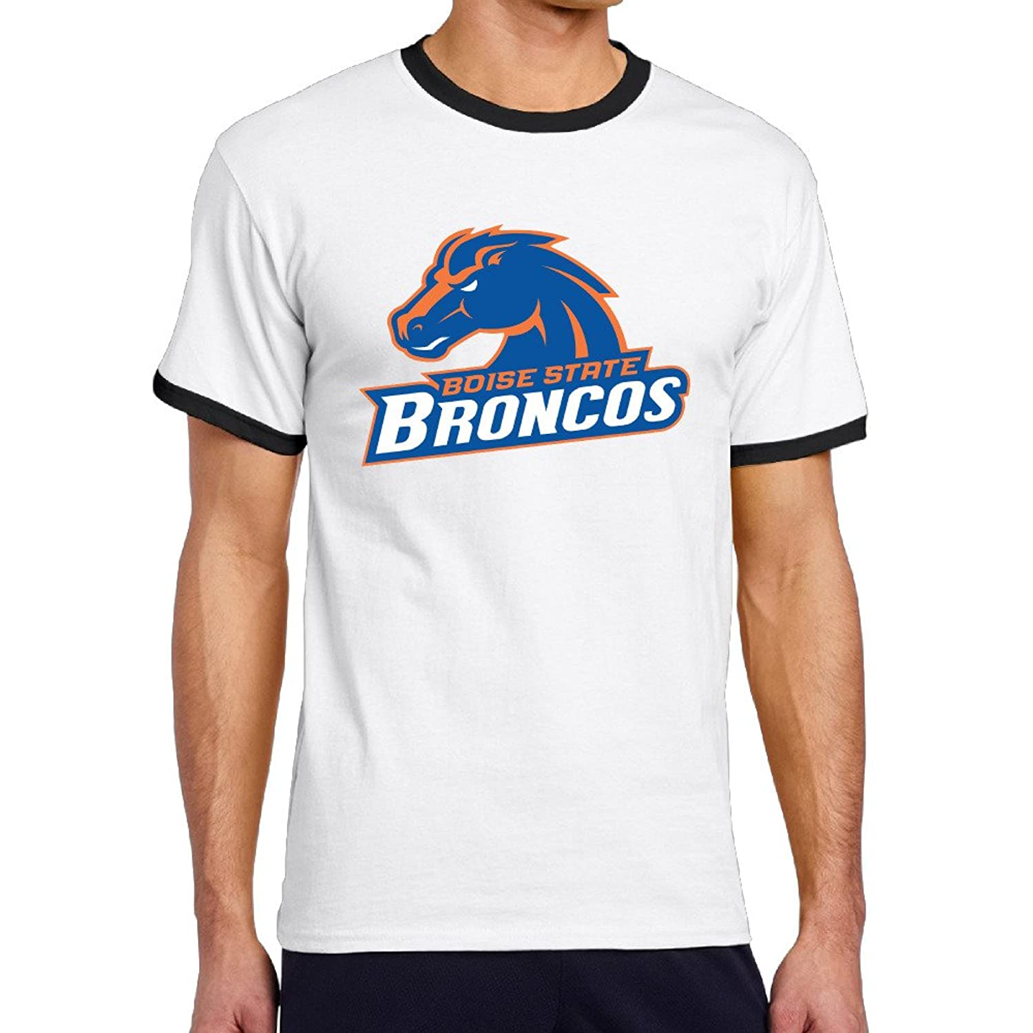 Wg men 39 s two toned t shirts cool boise state university for Boise t shirt printing