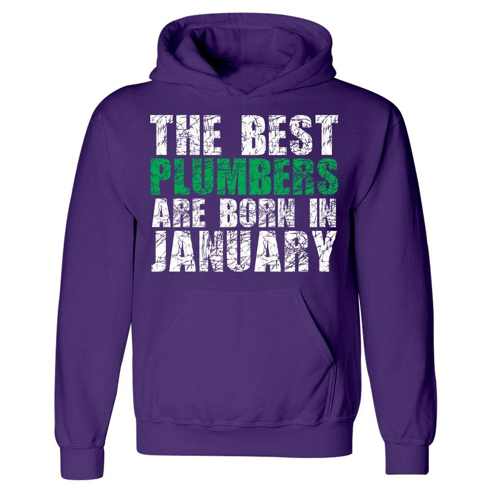 Hoodie The Best Plumbers are Born in January Cool Creative Design