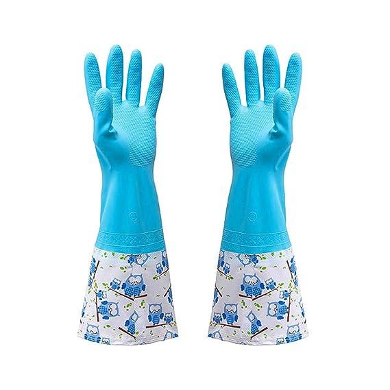 tohole Damen Niedliche Küche Gummi Reinigung Handschuhe ...