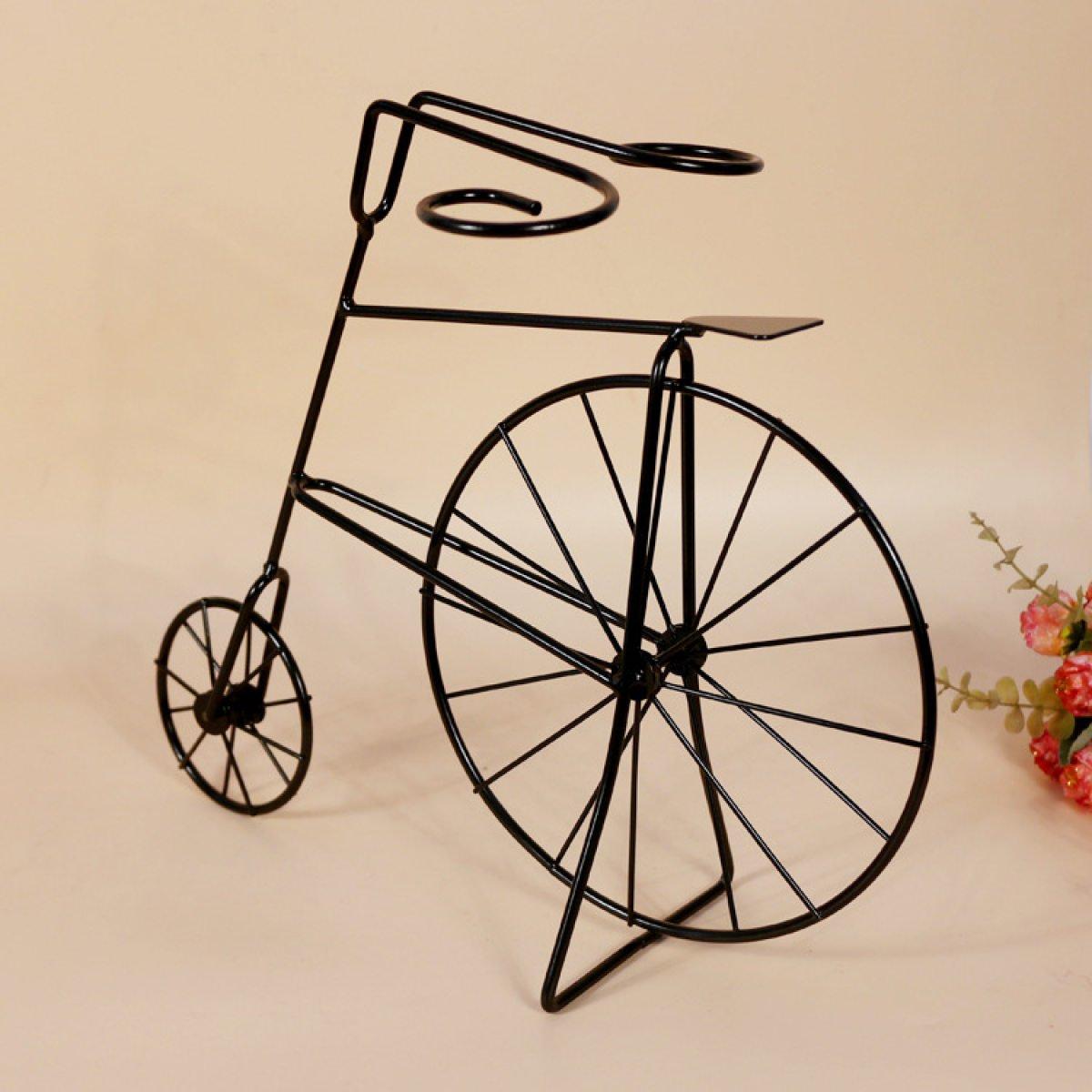 Wkaijc Bicicleta Portavasos La Creatividad La Personalidad La Moda Hierro Ornamentos Rojo Soporte De Vaso De Vino,Black: Amazon.es: Hogar