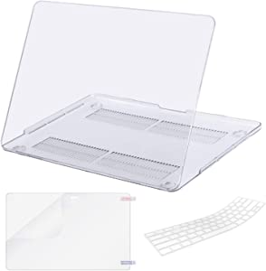 MacBook Pro 13 Case (2019 2018 2017 2016 Release Model A2159 A1989 A1706 A1708), Lacdo Laptop Hard Case Shell Cover Screen Protector Keyboard Skin for Apple MacBook Pro 13 Inch USB-C, Crystal Clear