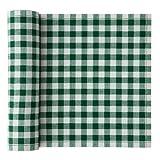 Cotton Printed Luncheon Napkin - 7.9 x 7.9 in - 20 units per roll - Green Vichy