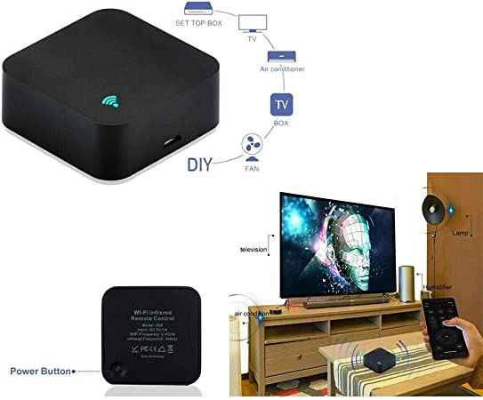 Trade Shop – Mini WiFi IR Remote Control Smart TV Acondicionadores Alexa Google Assist S06: Amazon.es: Hogar