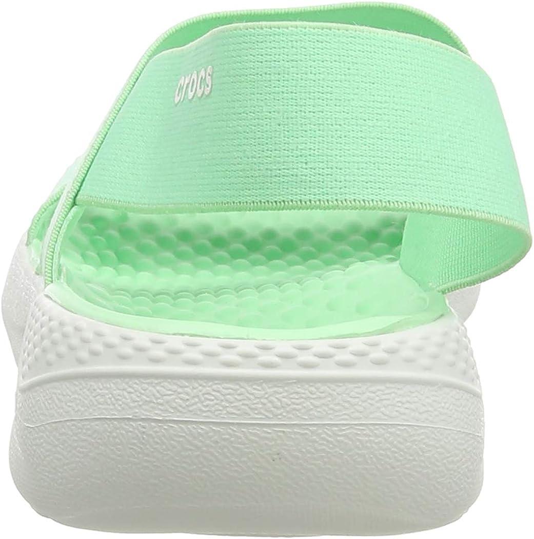 Crocs Literide Stretch Sandal Women, Bout Ouvert Femme Vert Neo Mint Almost White 3tp