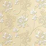 SICOHOME Flower Backsplash Self Stick WallpaperGold55 Yards