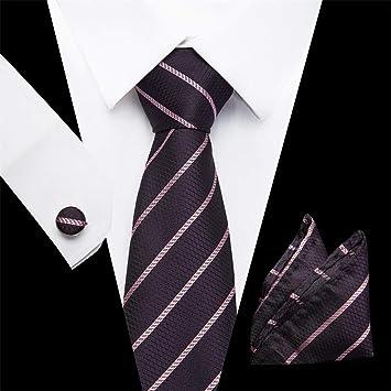 HYCZJH Polka Dot Conjunto de Corbatas de Color Liso 7.5cm Negro ...