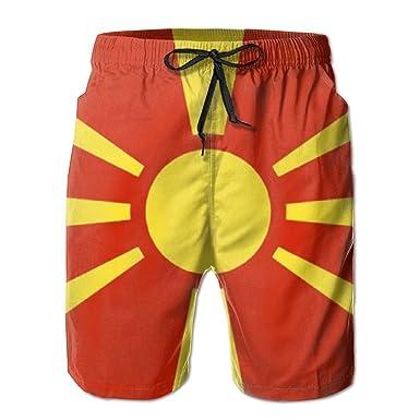 Horizon-t Beach Shorts Macedonia Mens Fashion Quick Dry Beach Shorts Cool Casual Beach Shorts
