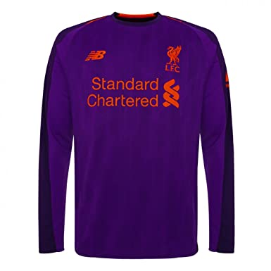 Amazon.com  New Balance 2018-2019 Liverpool Away Long Sleeve Shirt ... 7e0686c34
