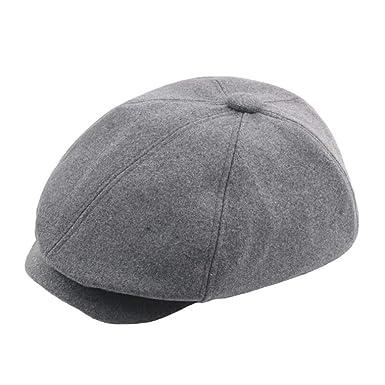 Cebbay Bonnet Homme Femme Chapeau,Bouffant Chic Coton Casquette Chaud  Chapeaux Crâne Baseball Plate Turban,Hiver Mode Ancien Beanie Hats Headwear  Cap  ... fc23ef59cb3