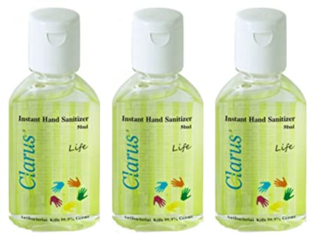 Buy Clarus Hand Sanitizer 50 Ml Life Pack Of 3 Online At Low