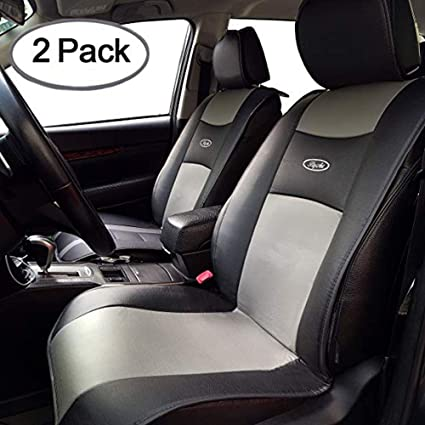 Big Ant Waterproof Universal 2 PCS Car Seat Cushion Covers PU Leather Protector Seats Mat