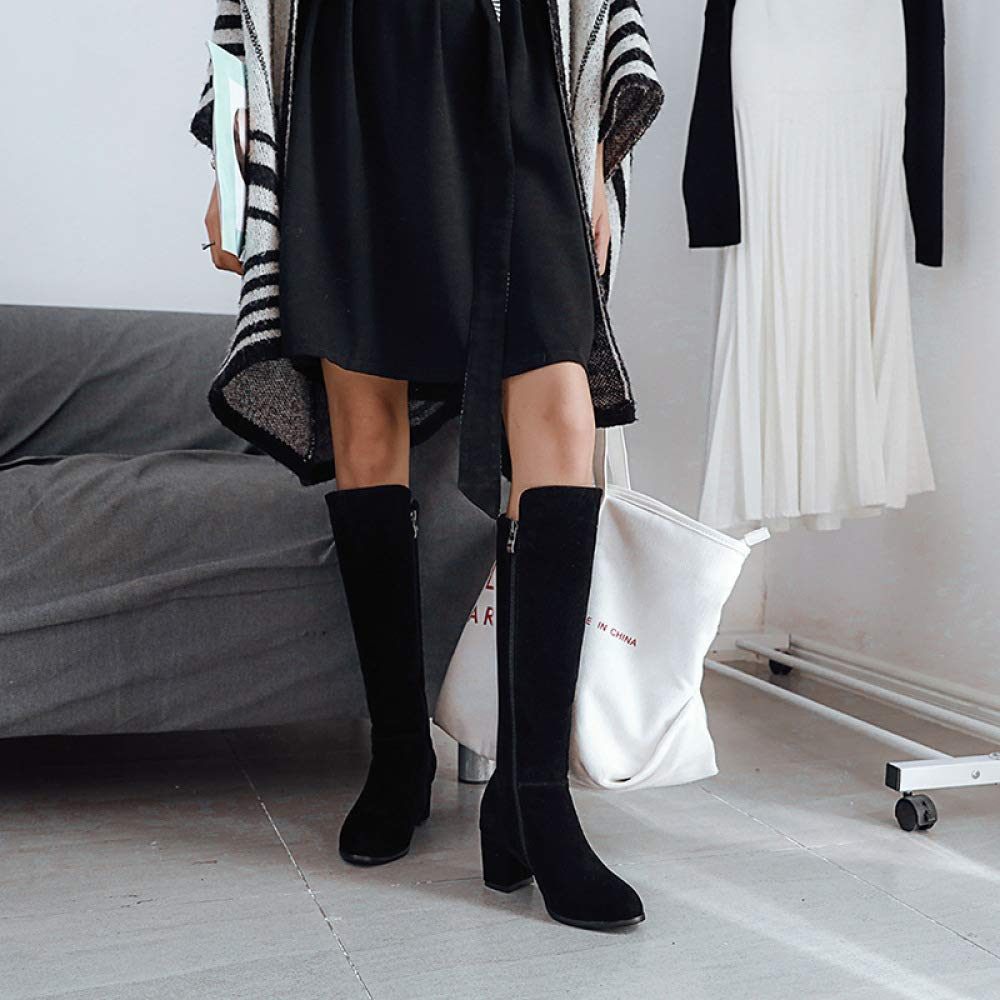 SHINIK Damenmode Ritter Stiefel 2018 Winter Bequeme High Heel Heel Heel Knie Stiefel Größe 33-43 0ab35e