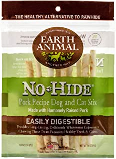 product image for Earth Animal No-Hide Humanely-Raised Pork Stix Natural Rawhide Alternative Dog & Cat Chews, 10-Count