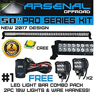 61nadSnfwLL._SX300_ amazon com no 1 50 inch pro series 288w led light bar & two 18w m wire harness code at bakdesigns.co