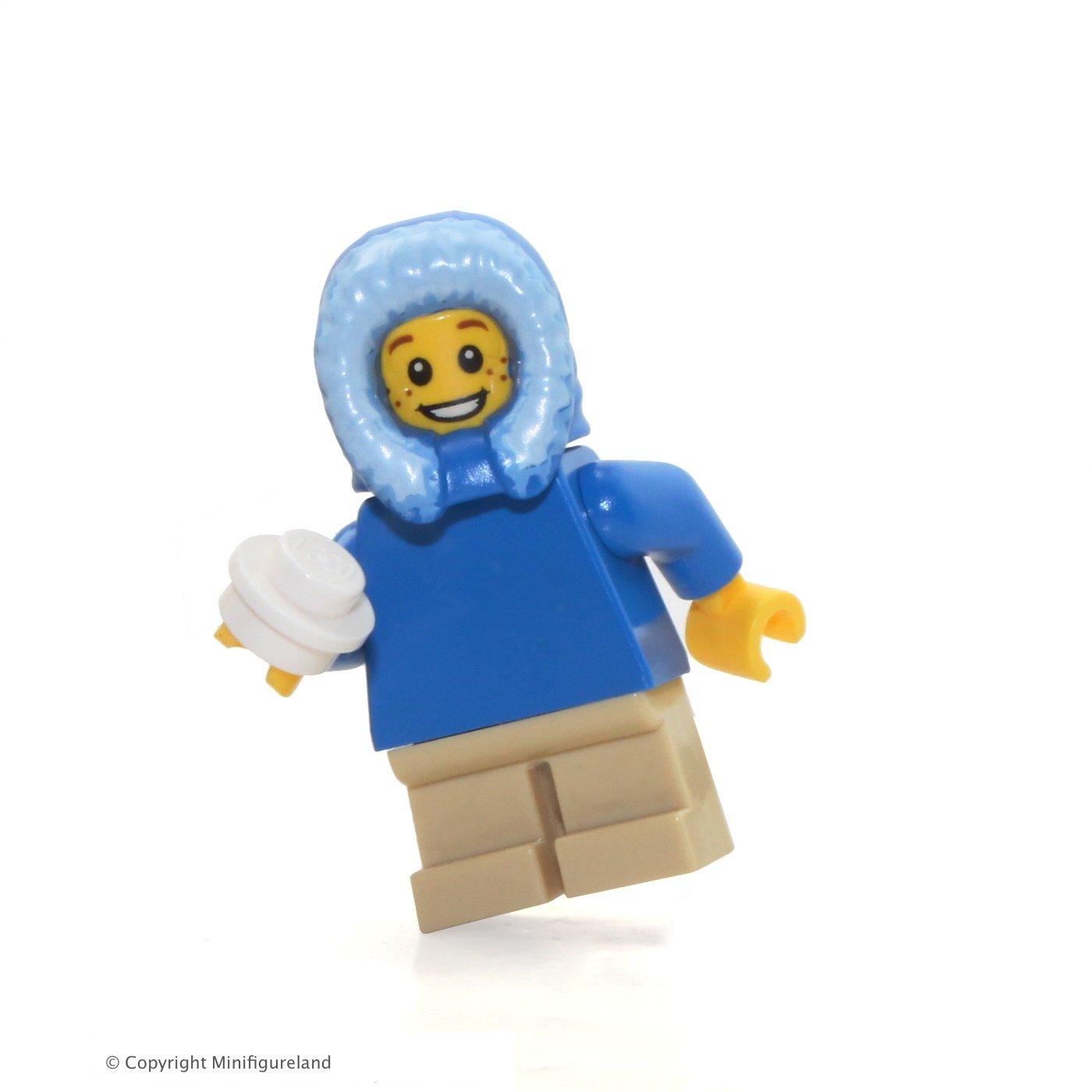 Boy 60099 w// Blue Fur-lined Hood /& Snowball LEGO Holiday MiniFigure