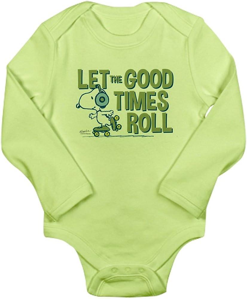 CafePress Snoopy Skate Cute Long Sleeve Infant Bodysuit Baby Romper