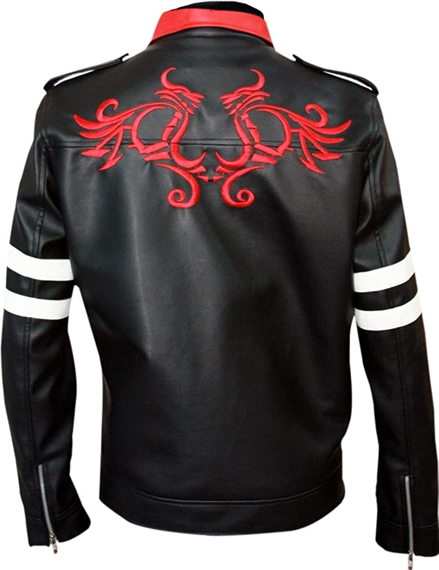 New Mens Black Style Stand Collar Dragon Jackets at Amazon Mens Clothing store: