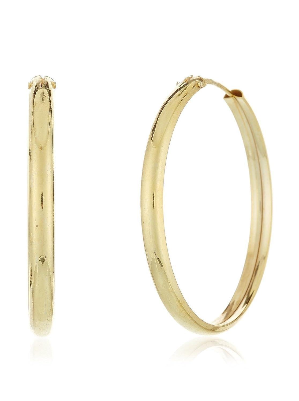 Córdoba Jewels  Pendientes plata de Ley bañado oro Diseño Aro Oro