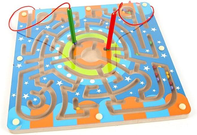 Laberinto Madera, Netspower Magnética Laberinto Rompecabezas para Niños de Madera de Juguete de Dibujos Magnéticos Laberinto Diversión Juegos: Amazon.es: Juguetes y juegos