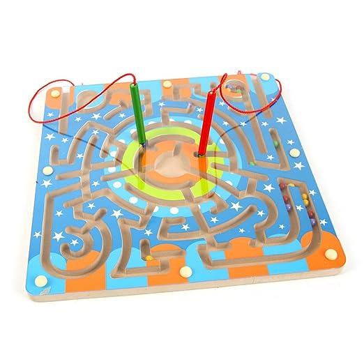 2 opinioni per Labirinto Magnetico di Legno, Netspower Giocattoli Prima Infanzia Giochi