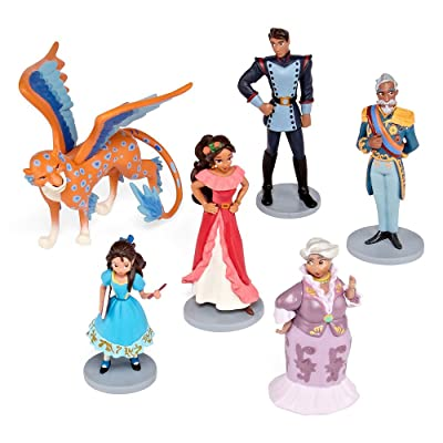 Disney Collection Princess Elena of Avalor 6 Piece Figurine Playset Figure Play Set With Skylar: Toys & Games