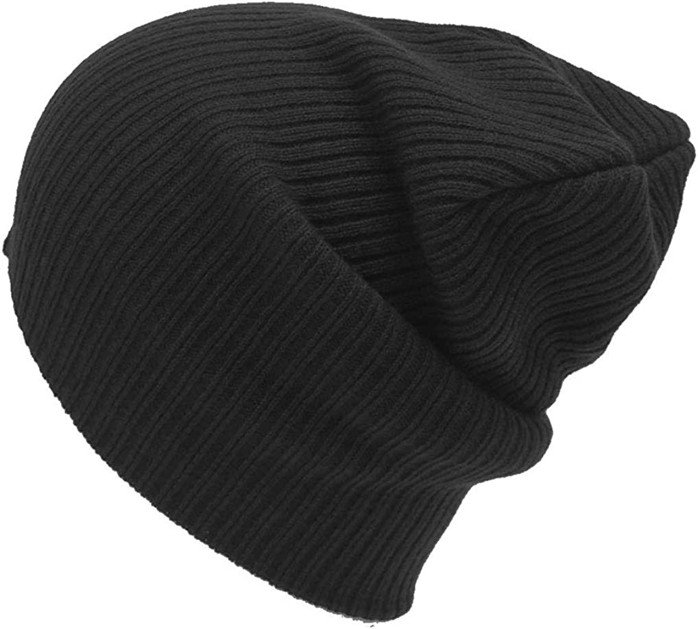 FGSS Winter Slouchy-Beanie for Men-Knitted Solid Color Warm Skullies Hats