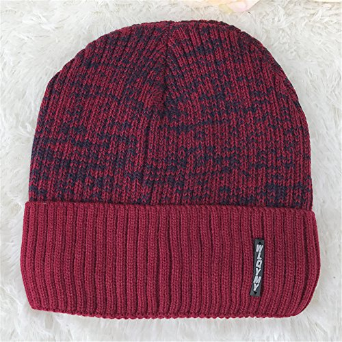 sombreros sombrero cálido beanie Color EXTERIOR encapuchados de Red MASTER tapas negro engrosada Navidad Wine Men tejidos invierno Halloween sombreros sombreros 0OBwBnE