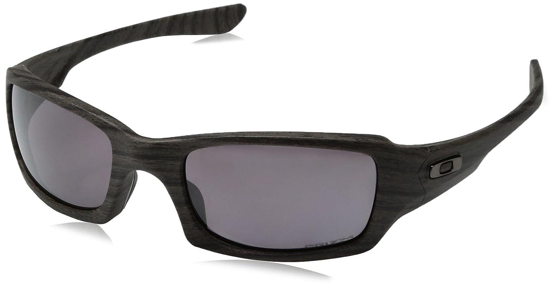 a691079f95 Oakley FIVES SQUARED Sunglasses Woodgrain   Prizm Daily Polarized   Amazon.co.uk  Clothing
