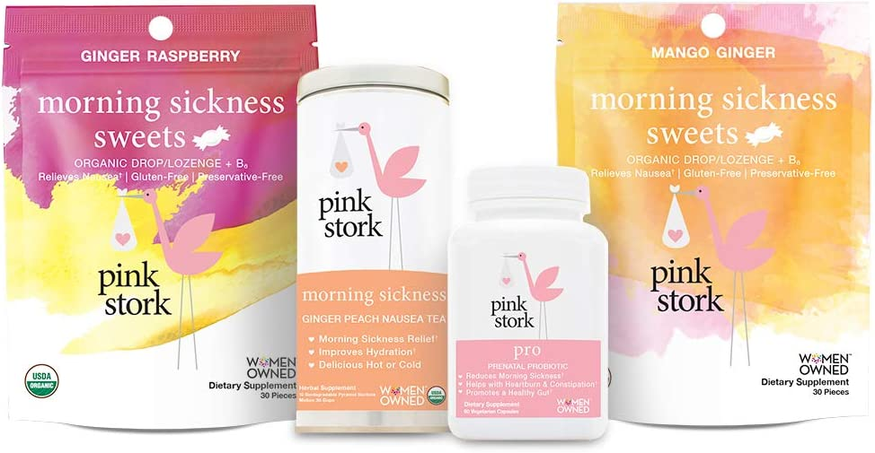 Pink Stork Morning Sickness Bundle