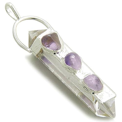 Amazon.com: Punta de vidrio de roca de cuarzo curación ...