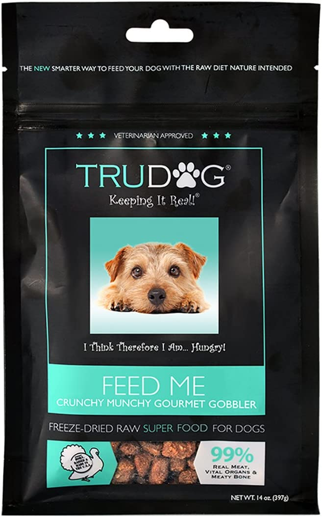 TruDog Feed Me Freeze Dried Raw Superfood – Real Meat Dog Food – Optimal Canine Health and Natural Longevity – All Natural – Balanced Nutrition – No Filters, No Grain – Just Add Water
