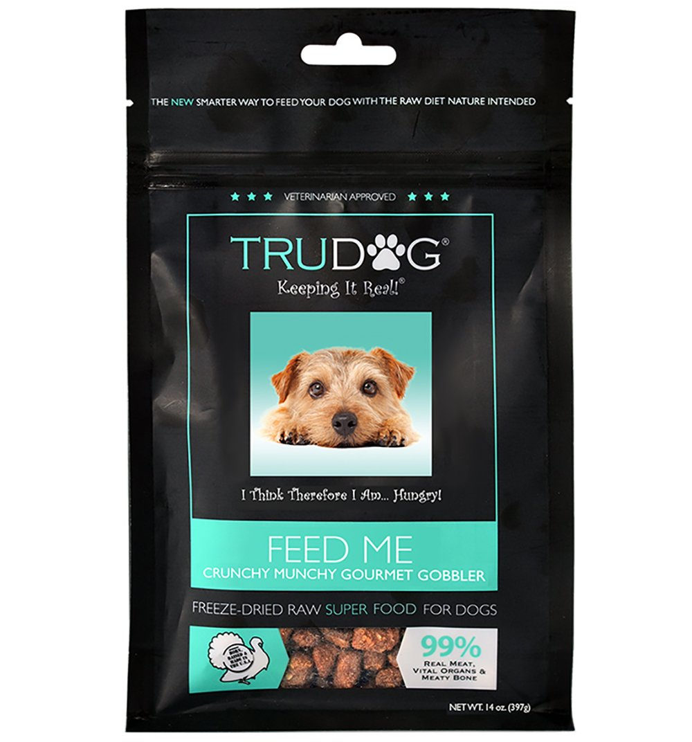 Trudog Real Meat Dog Food - Feed Me: Freeze Dried Raw Superfood For Optimal Canine Health And Natural Longevity, 14Oz Turkey, For Dog'S, 1 Pack by TruDog