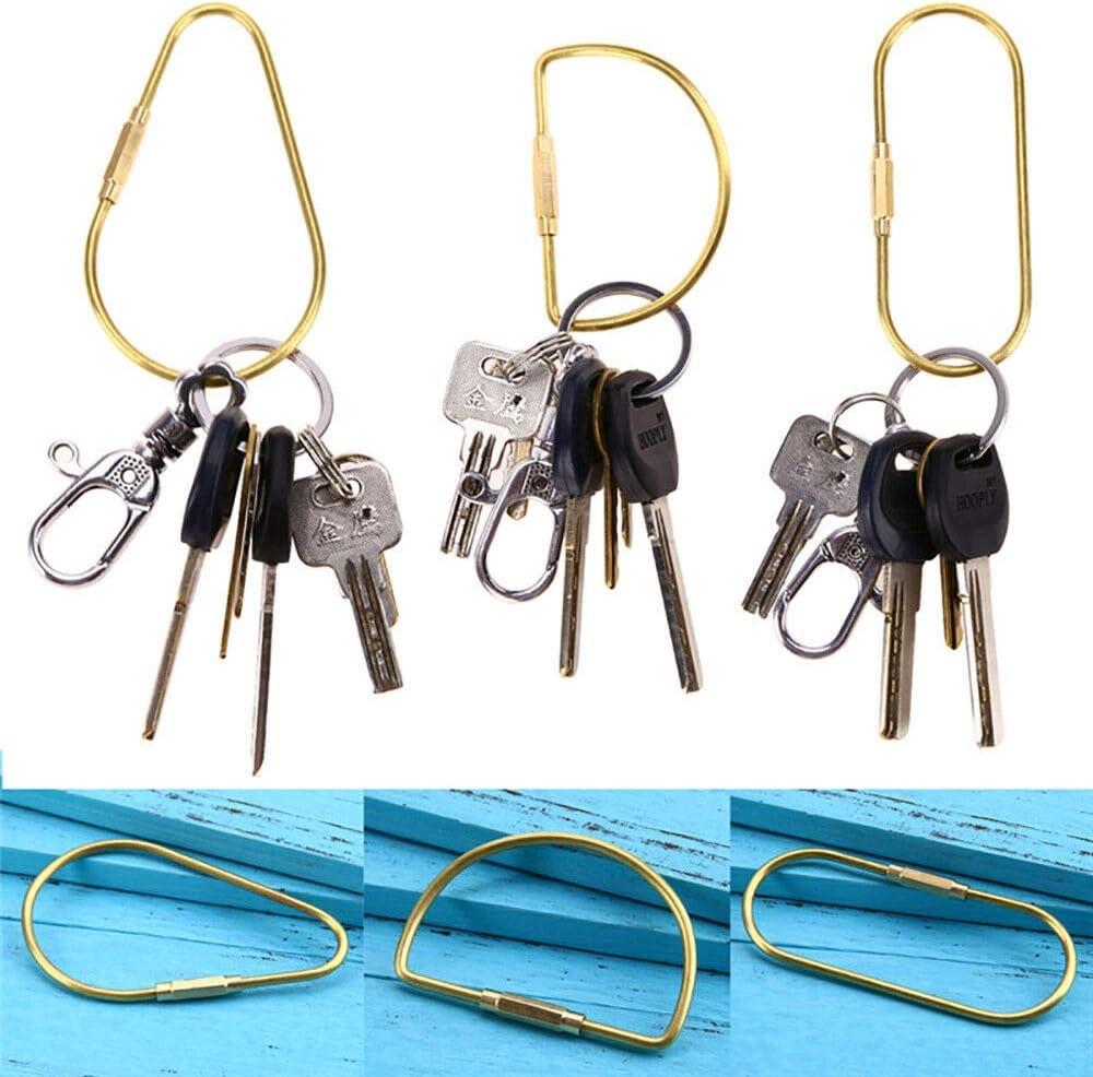 10 Stück Draht Schlüsselanhänger Schlüsselringe mit Drehverschluß