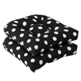 Pillow Perfect Indoor/Outdoor Black/White Polka Dot