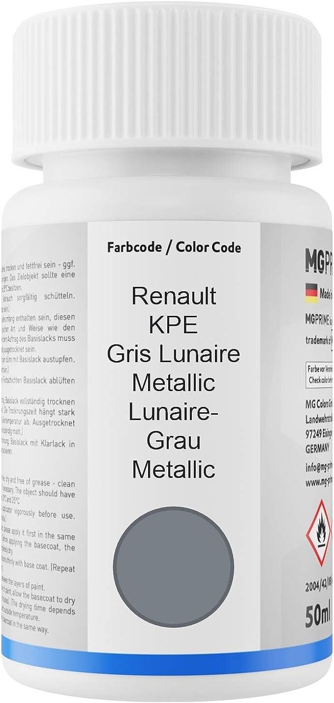 Mg Prime Autolack Lackstift Set Für Renault Kpe Gris Lunaire Metallic Lunaire Grau Metallic Basislack Klarlack Je 50ml Auto