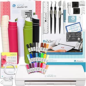 Silhouette America CAMEO 3 Touch Screen, Bluetooth, Auto Blade Starter Bundle kit