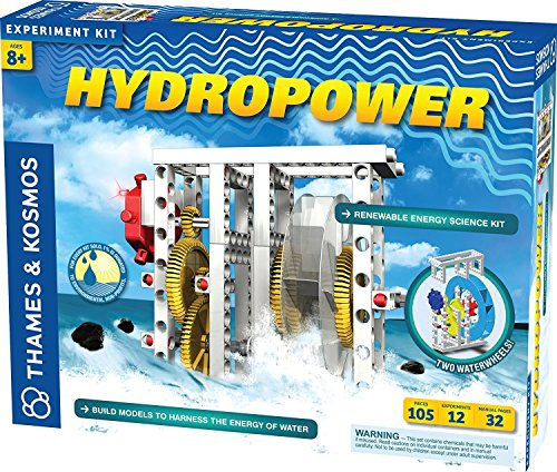 Thames & Kosmos Hydropower Science Kit | 12 Stem Experiments | Learn About Alternative & Renewable Energy, Environmental Science | Parents' Choice Recommended Award Winner