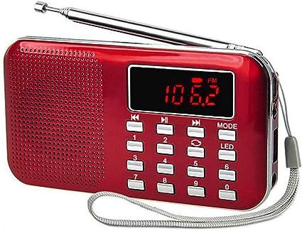 iMinker mini portátil Radio FM / AM Bolsillo Speaker MP3 Player Soporte TF Tarjeta / USB (rojo): Amazon.es: Electrónica