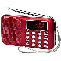 iMinker mini portátil Radio FM / AM Bolsillo Speaker MP3 Player Soporte TF Tarjeta / USB (rojo)