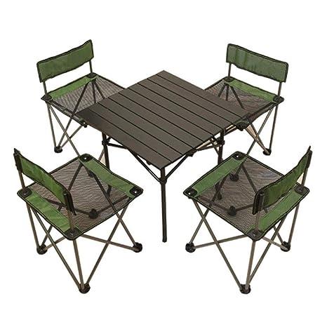 Silla y mesas Plegables Comedor para Acampar al Aire Libre ...