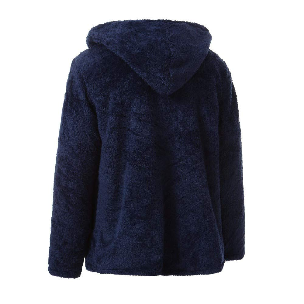 PASATO Fashion Mens Autumn Winter Casual Loose Double-Sided Plush Hoodie Tops Coat Clearance Sale
