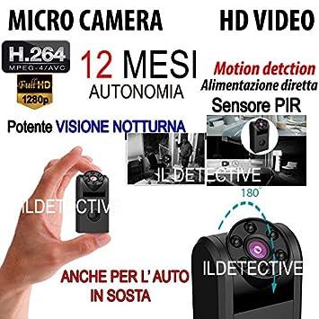 Cámara Espía Oculta cámara espía infrarrojos Sensor Movimiento PIR 12 meses de autonomía: Amazon.es: Electrónica