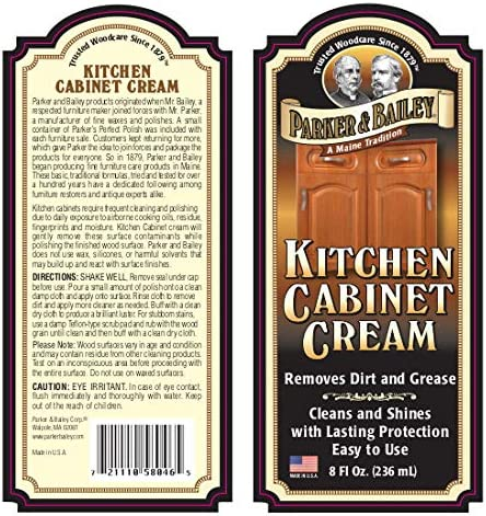 health, household, household supplies, household cleaning, wood polish, care,  wood polish 4 picture Parker & Bailey Kitchen Cabinet Cream 8oz, 8 ounces in USA