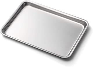 """product image for 360 Stainless Steel Jelly Roll Pan, Handcrafted in the USA, 5 Ply, Surgical Grade Stainless Bakeware, Dishwasher Safe, Professional Grade, Use as Baking Pan, Roasting Pan (14""""x10"""")"""