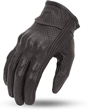2XL Mens Driving Gloves Gel blk riding Cruiser style Reflective Skull Real Leather
