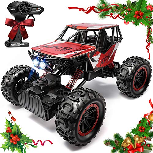 Cumbor 1:12 Large Remote Control Car, Rechargeable 2.4 Ghz Radio Remote Control Monster Truck, High Speed 4WD Off Road Vehicle and Rock Crawler, Gifts for Boys and Girls