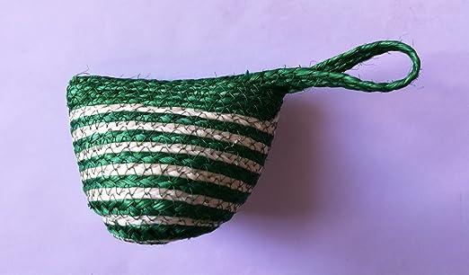 Monedero de cuerda natural hecho a mano con fibra de cavera ...