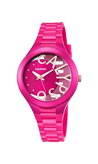Calypso Reloj Análogo clásico para Mujer de Cuarzo con Correa en Plástico K5678/5: Amazon.es: Relojes